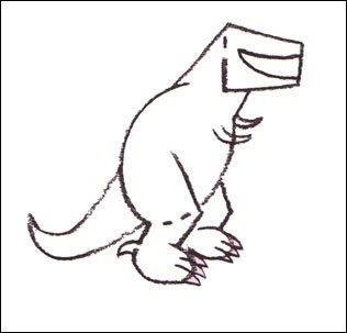 316x303 How To Draw How To Draw A Tyrannosaurus