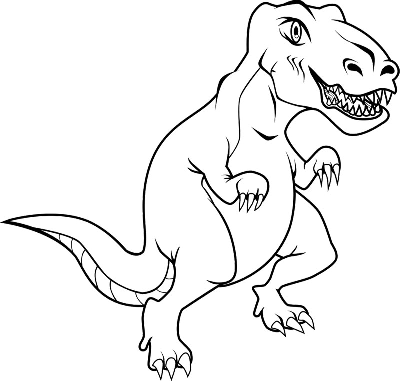 800x763 Awesome Tyrannosaurus Rex Coloring Page 96 For Print Coloring