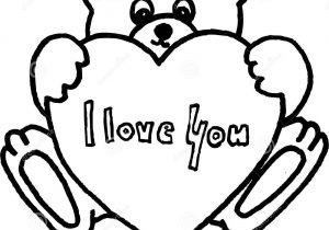 300x210 Cute Teddy Bear Sketch Drawing With Heart Drawn Love Teddy Bear