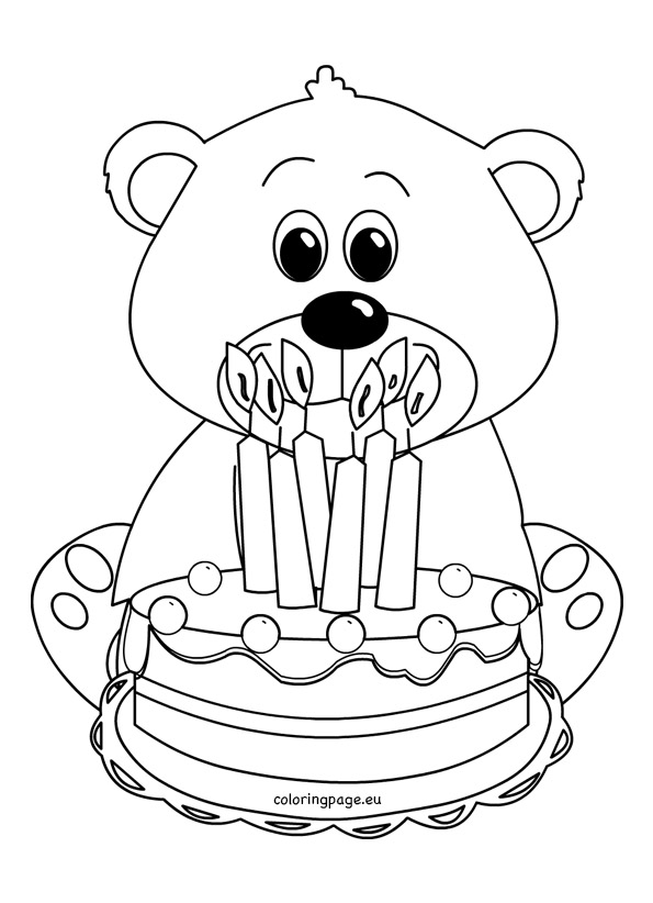 595x822 Cute teddy bear coloring picture Coloring Page