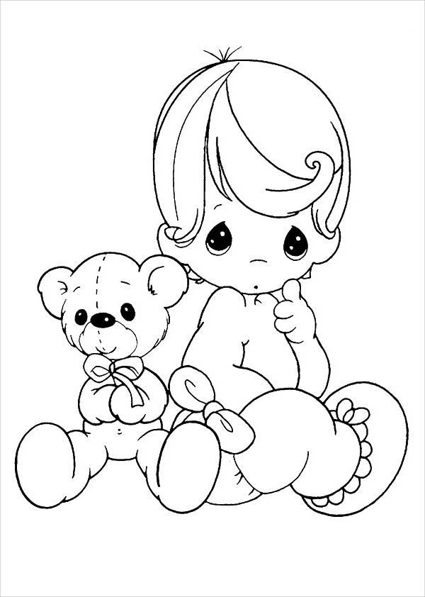 600x842 9+ Teddy Bear Coloring Pages