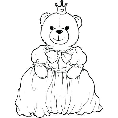 400x400 Princess Images To Color Teddy Bear Color Page Princess Coloring