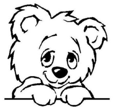 445x419 Amazing Cute Teddy Bear Sketch Images Teddy Bear Drawings Clipart