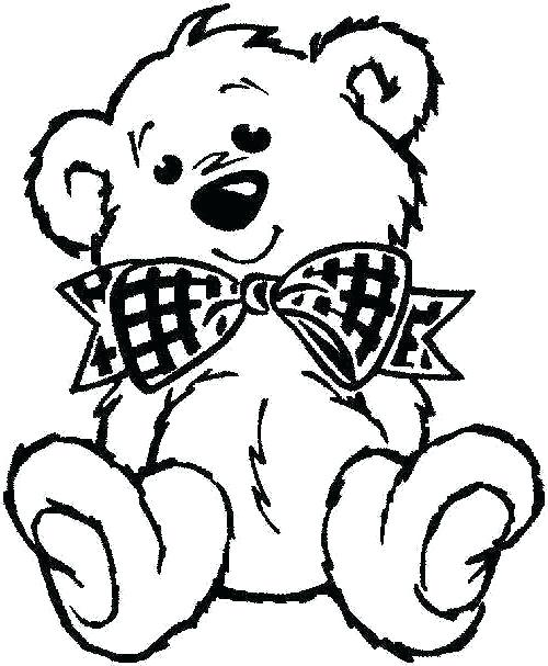 500x607 Teddy Bear Coloring Page 74 Together With Teddy Bear Coloring Page