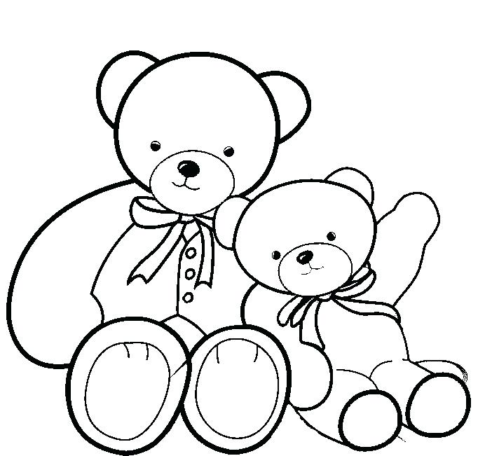 692x651 Coloring Page Teddy Bear New Teddy Bear Coloring Pages Free On