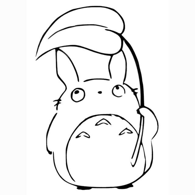 Cute Totoro Drawing