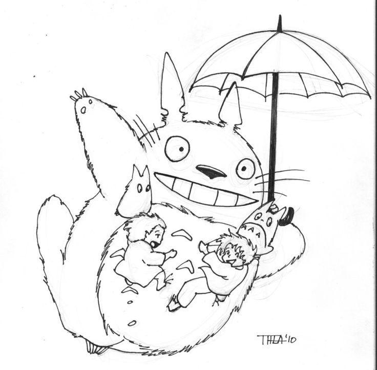736x722 Totoro Colouring Page Ghibli Joy Totoro Totoro