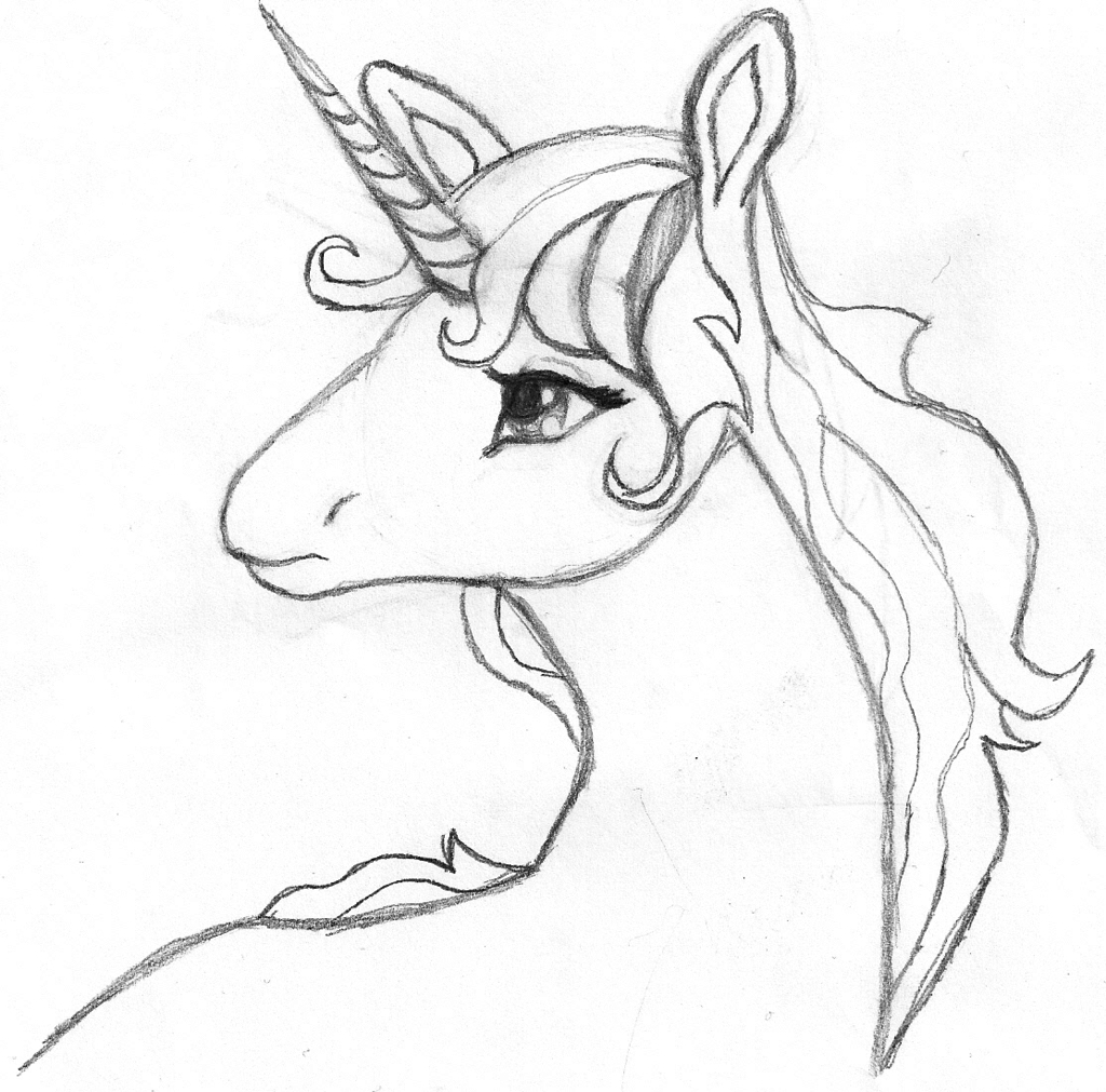Cute Unicorn Drawing at GetDrawings.com | Free for personal use Cute ...