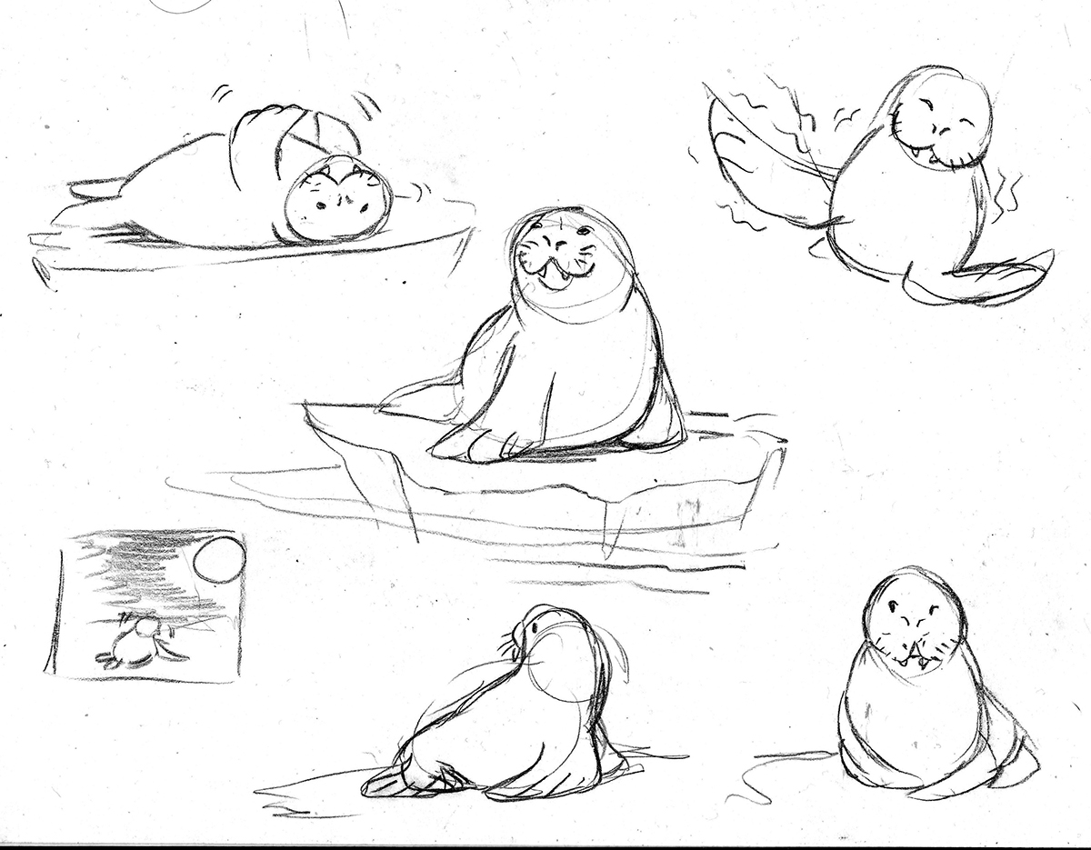 1200x935 The Walrus Who Loved To Wiggle Children's Book On Scad Portfolios