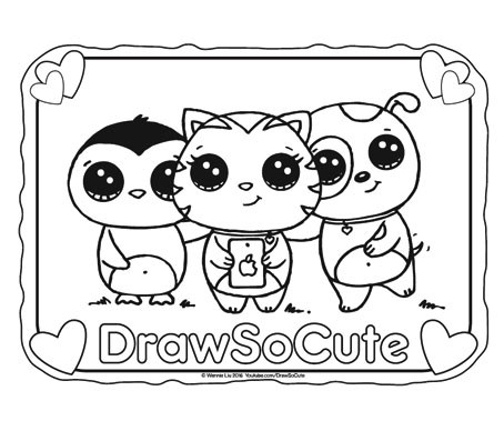 454x388 Draw So Cute Page 4 Cute Drawing Videos, Coloring Pages