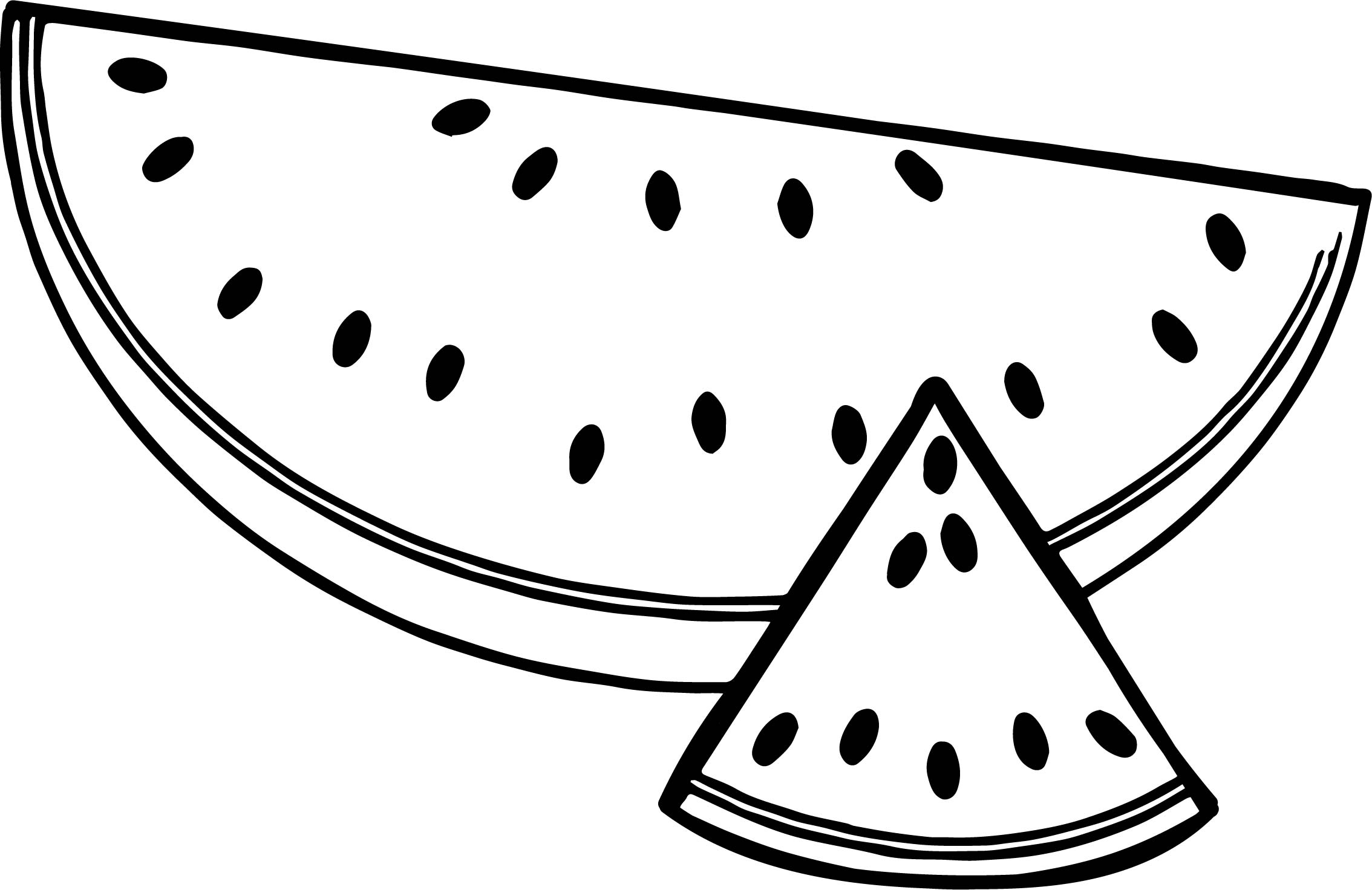 2268x1472 W For Watermelon Fruit Coloring Pages