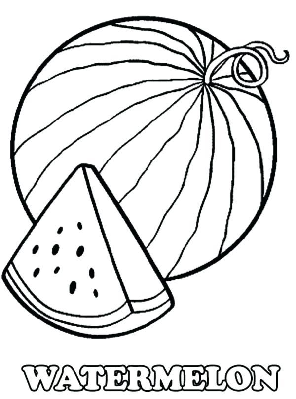 600x808 Watermelon Coloring Page Plant Watermelon Coloring Picture Cute