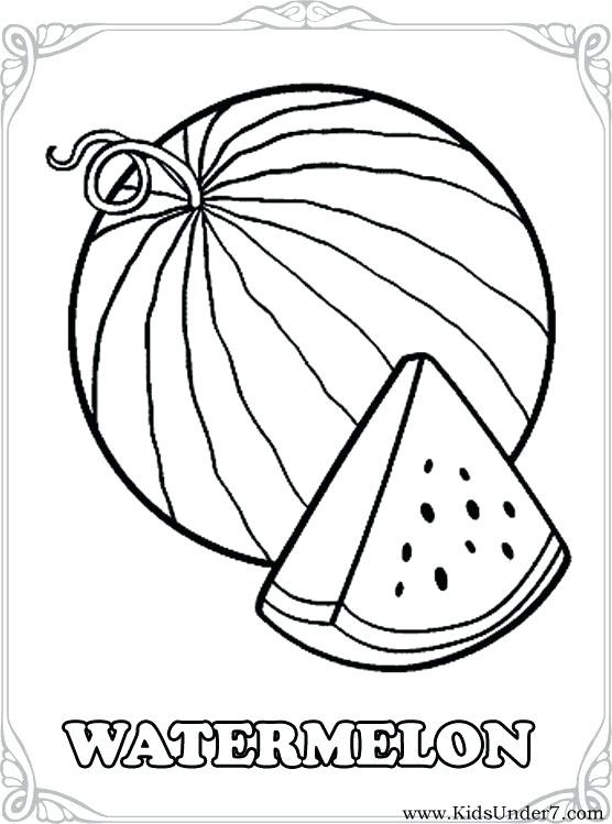 556x749 Watermelon For Coloring Drawn Fruit Watermelon Fruit 9 Watermelon