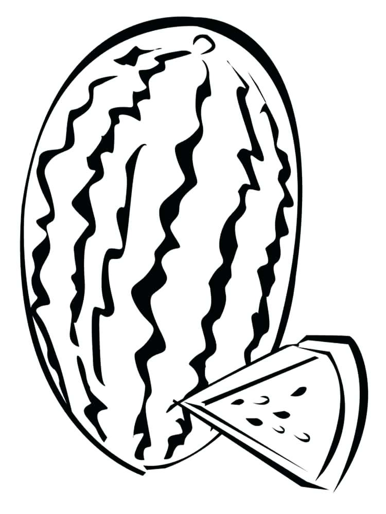 750x1000 Watermelon For Coloring Watermelon Line Drawing Watermelon