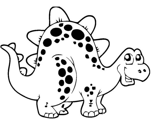 600x471 Cute Dinosaur Drawing