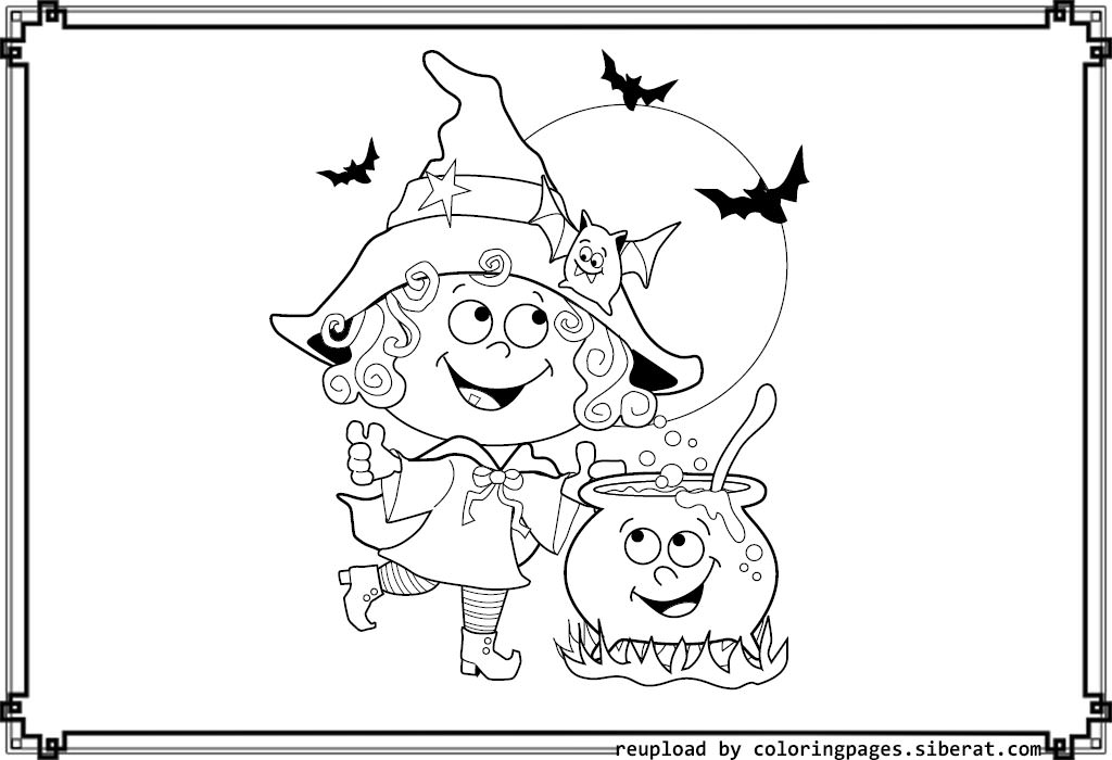 Cute Witch Drawing at GetDrawings