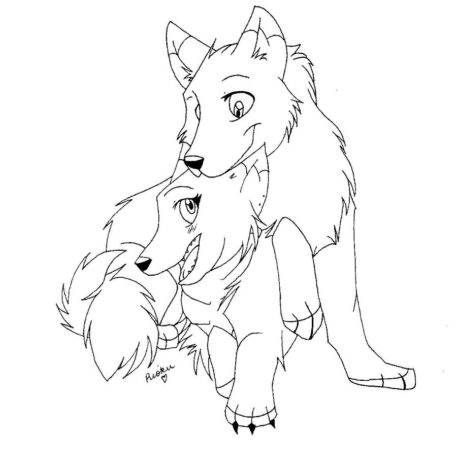Cute Wolf Drawing at GetDrawings | Free download