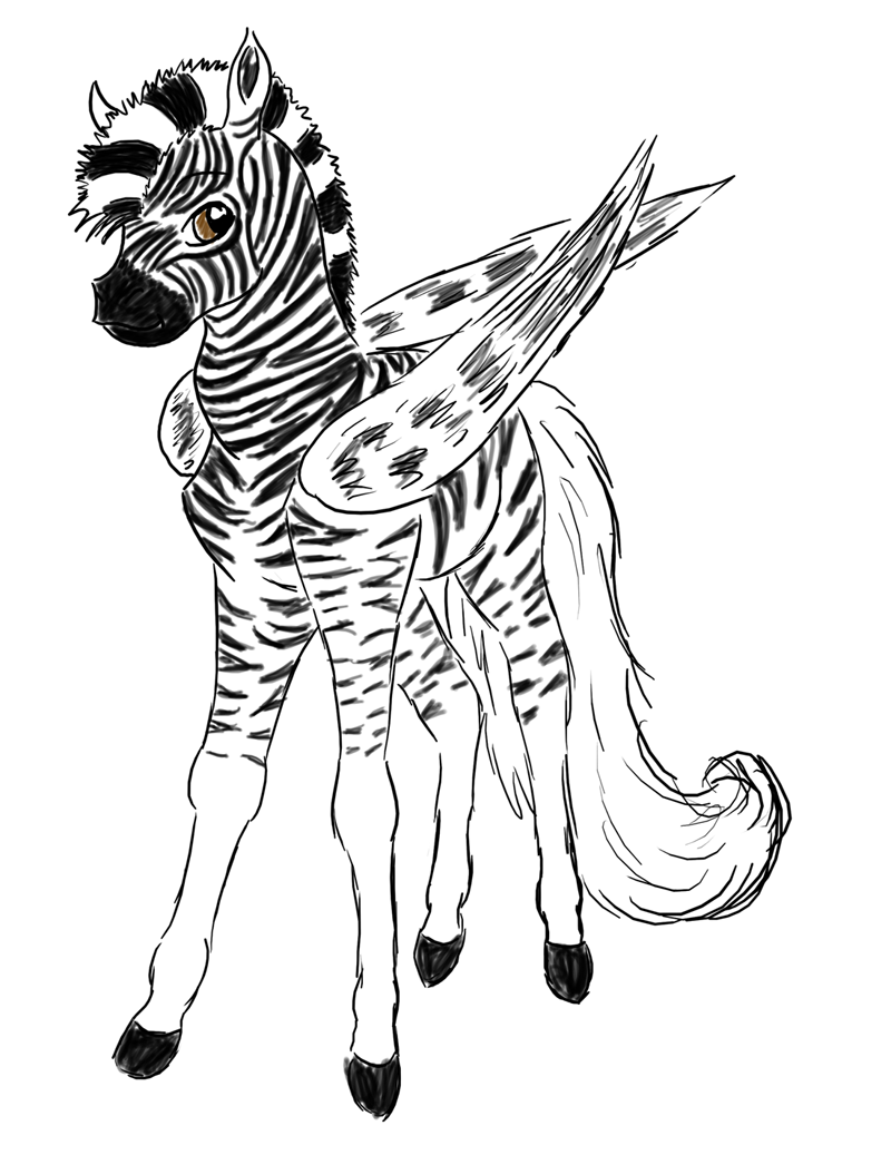 Cute Zebra Drawing at GetDrawings.com | Free for personal use Cute ...
