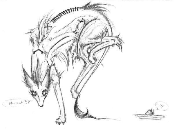 600x445 Cute Zombie Dog Drawing