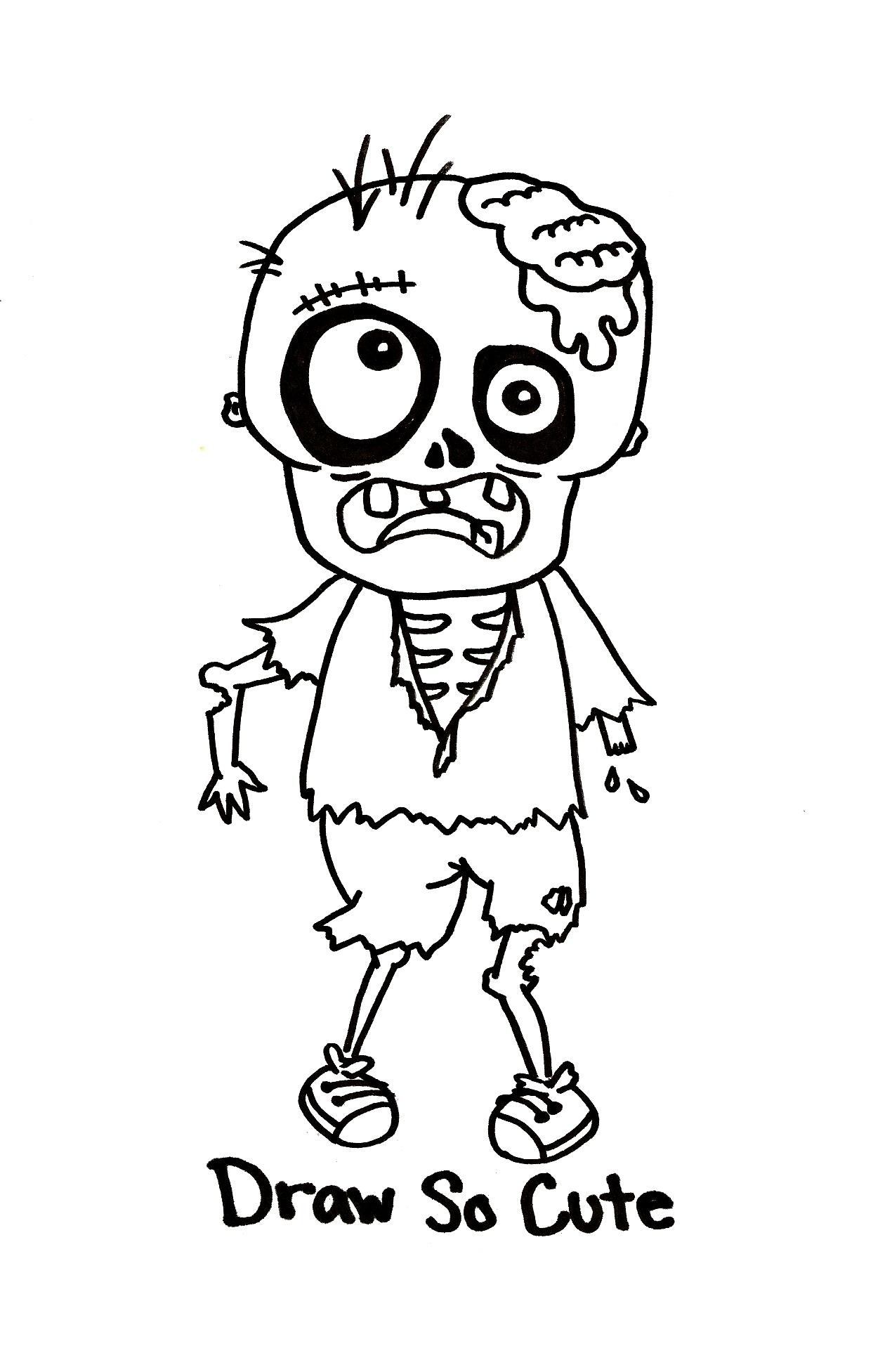1270x1953 Draw So Cute Zombie Boy