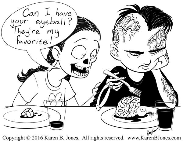 600x464 Inktober Zombie Children Karen B. Jones