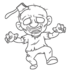 230x230 Top 20 Zombie Coloring Pages For Your Kids