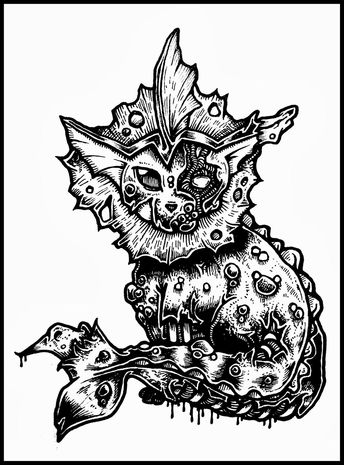 1184x1600 Zombie Pokemon (Eevee Evolutions ) Daryl Hobson Artwork