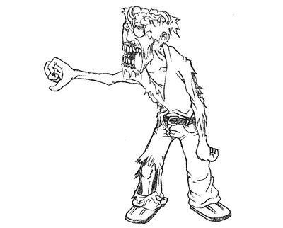 400x322 Zombie Dog Coloring Sheets Pictures Pages