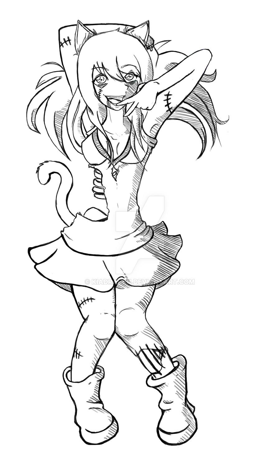 900x1506 Zombie Kitty Commission By Kiadraven