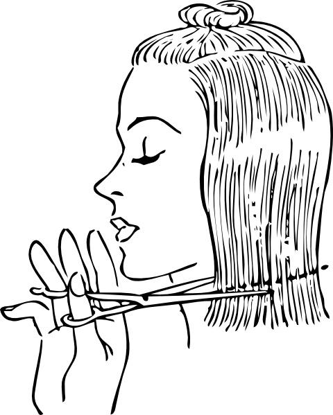 480x599 Fashion Cutting Women's Hair Clip Art Free Vector In Open Office