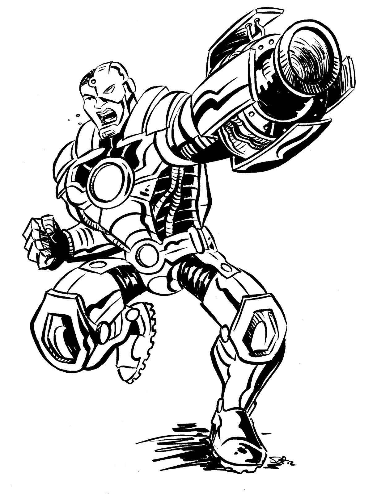 1220x1600 Cyborg Sketch Scoot Sketches!