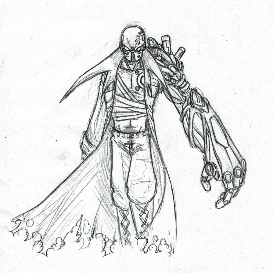 895x893 Cyborg Sketch By Phantom62