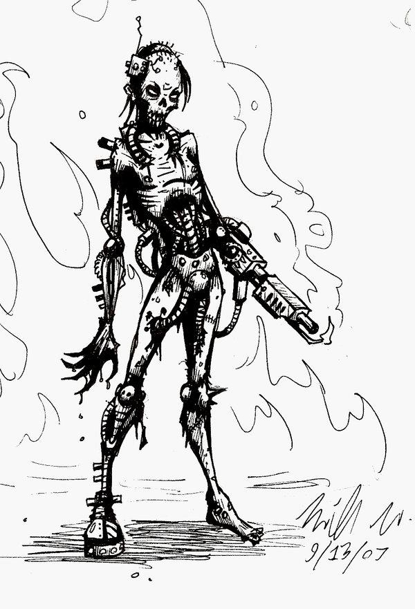 600x881 Cyborg Zombie By Mutantzombie667
