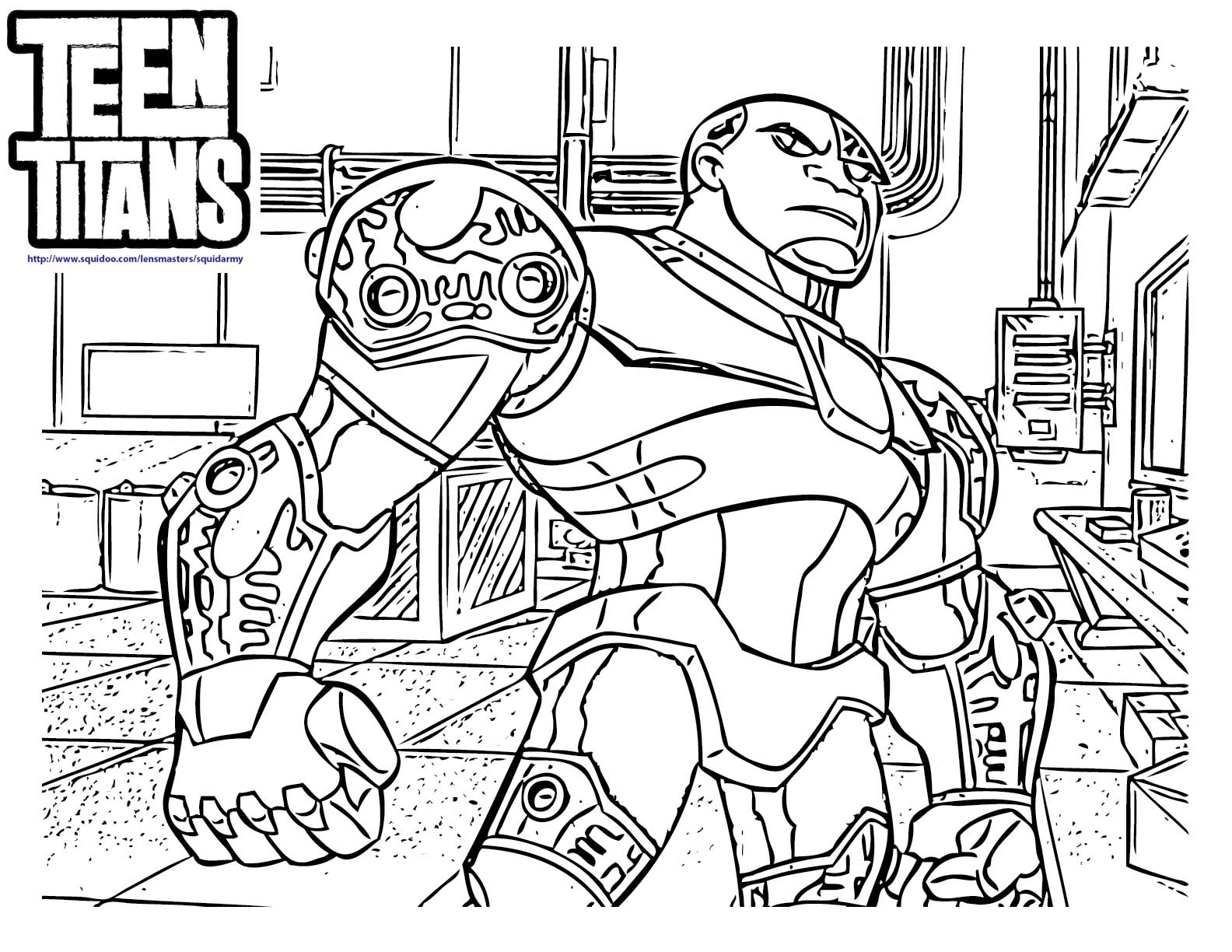 1584x1224 8 Pics Of Teen Titans Cyborg Coloring Pages
