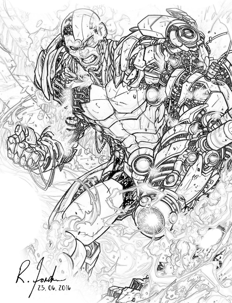783x1020 Cyborg Drawing By Rforde24