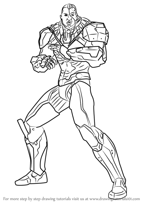 567x800 Learn How To Draw Cyborg From Injustice