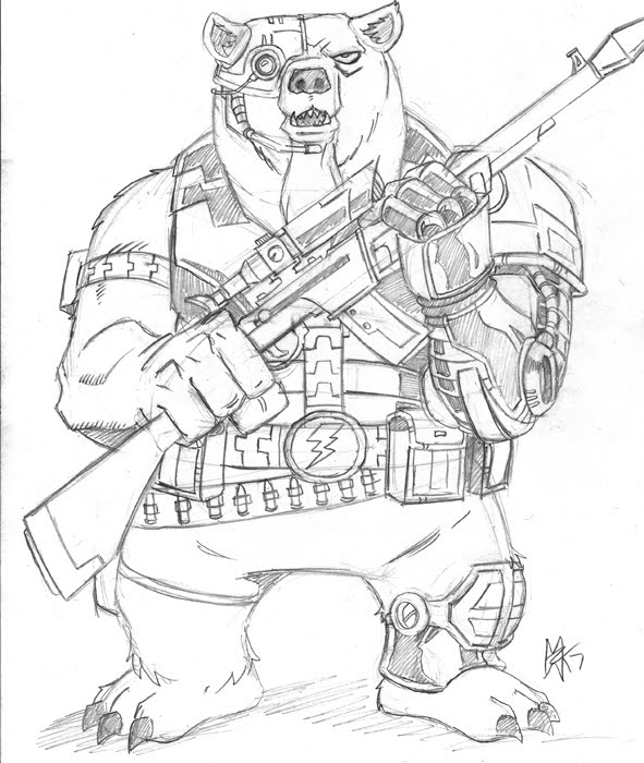 591x700 Cyborg Bear By 0nslaught17