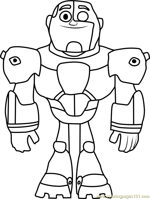 603x800 Cyborg Coloring Page