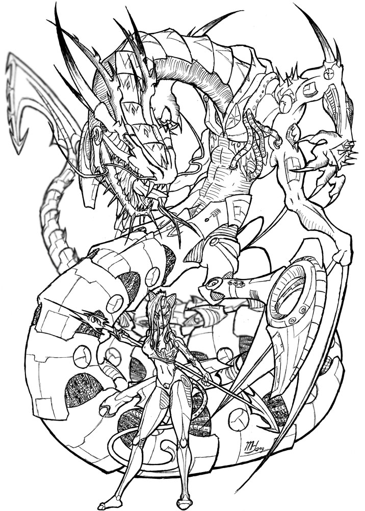 716x1000 Cyborg Dragon Menasor And Lynx By Dragonnetstorm