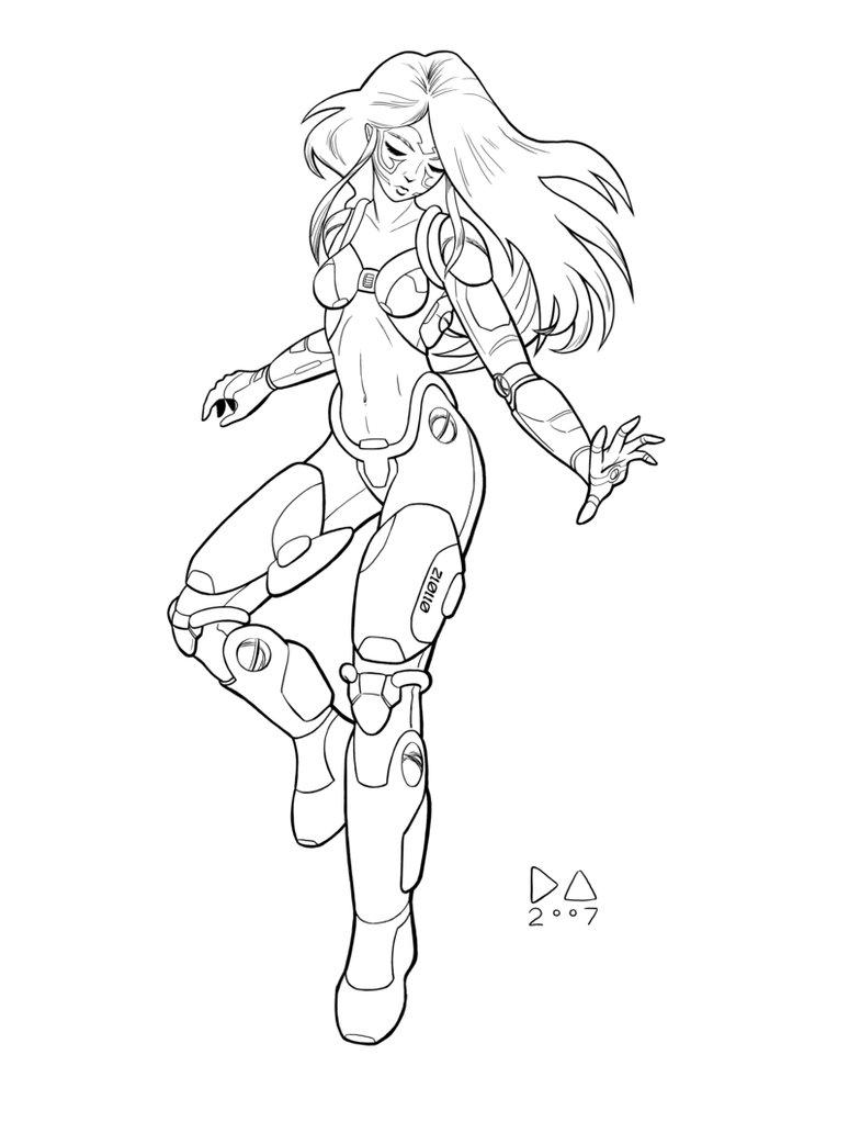 774x1032 Cyborg Girl Inked By Nirsus