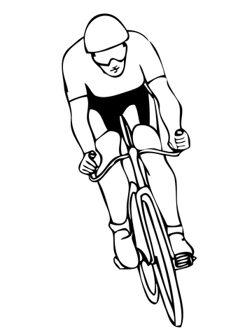 360x480 Cycling Sport Coloring Page Free Printable Coloring Pages