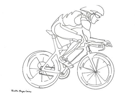 474x345 Cyclist, Drawing Of A Man Riding A Bicycle Bike Drawing