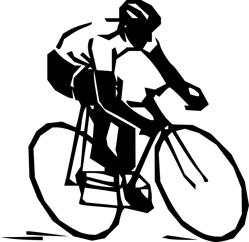 800x777 Cyclist Silhouette Clipart Transparent Png