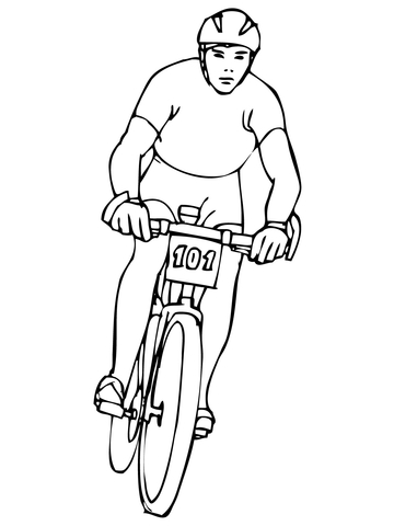 360x480 Riding Mountain Bike Coloring Page Free Printable Coloring Pages