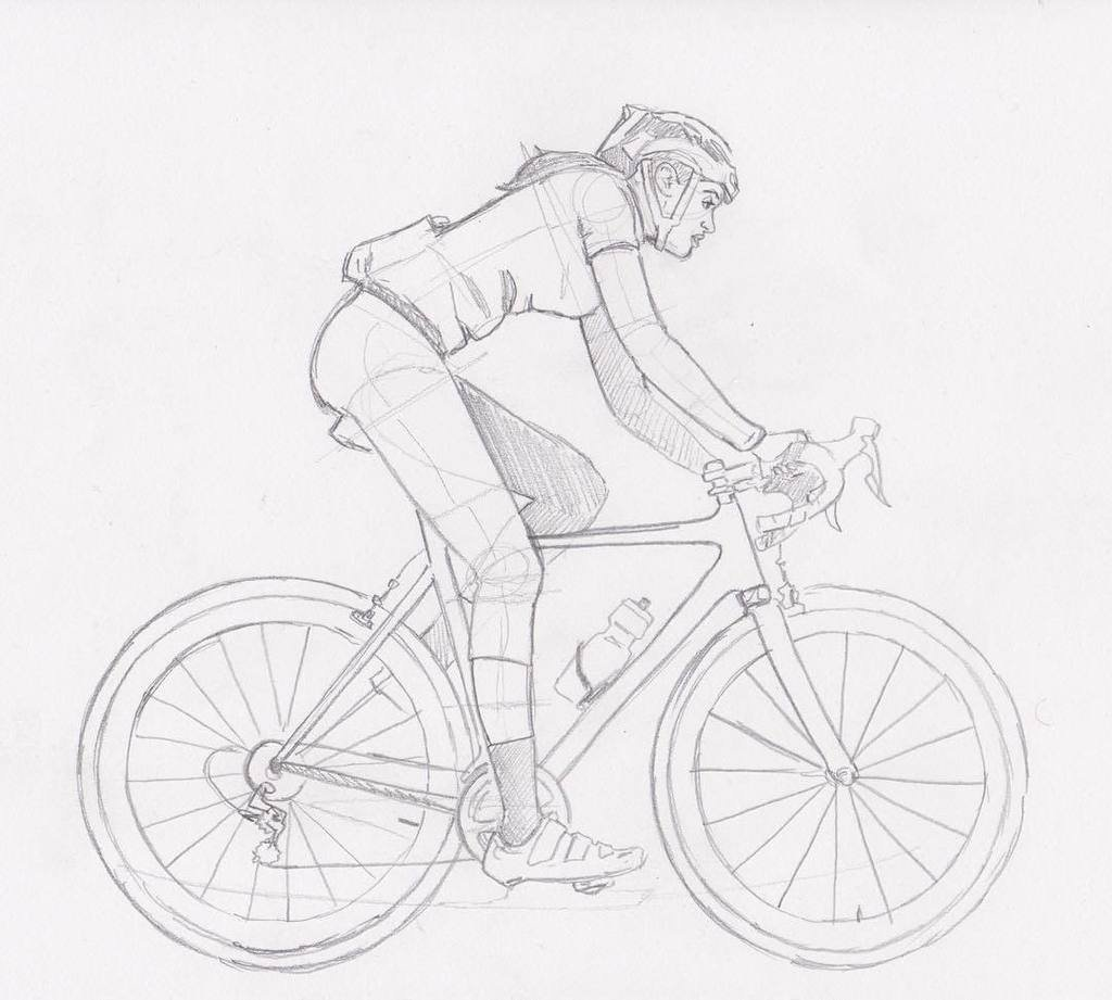 1024x921 Steven Johnson On Twitter Cycling Lady Sketch