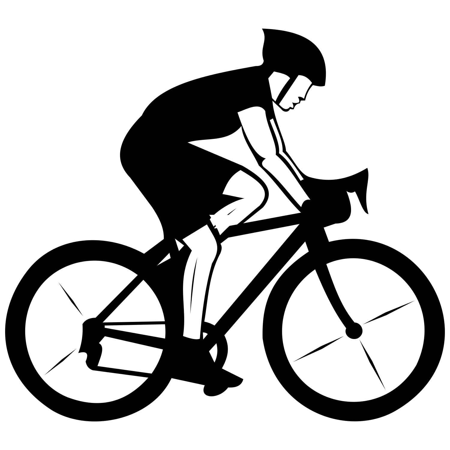 1500x1500 Vector For Free Use Cyclist Vector