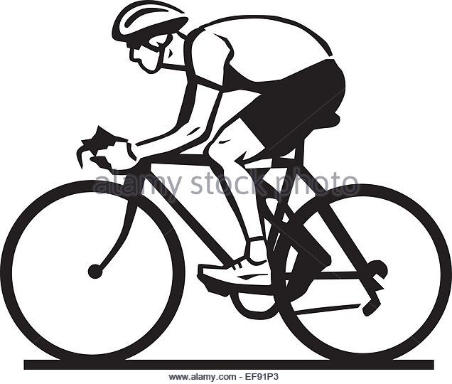 Line Drawing Bicycle : Cyclist drawing at getdrawings free for personal use
