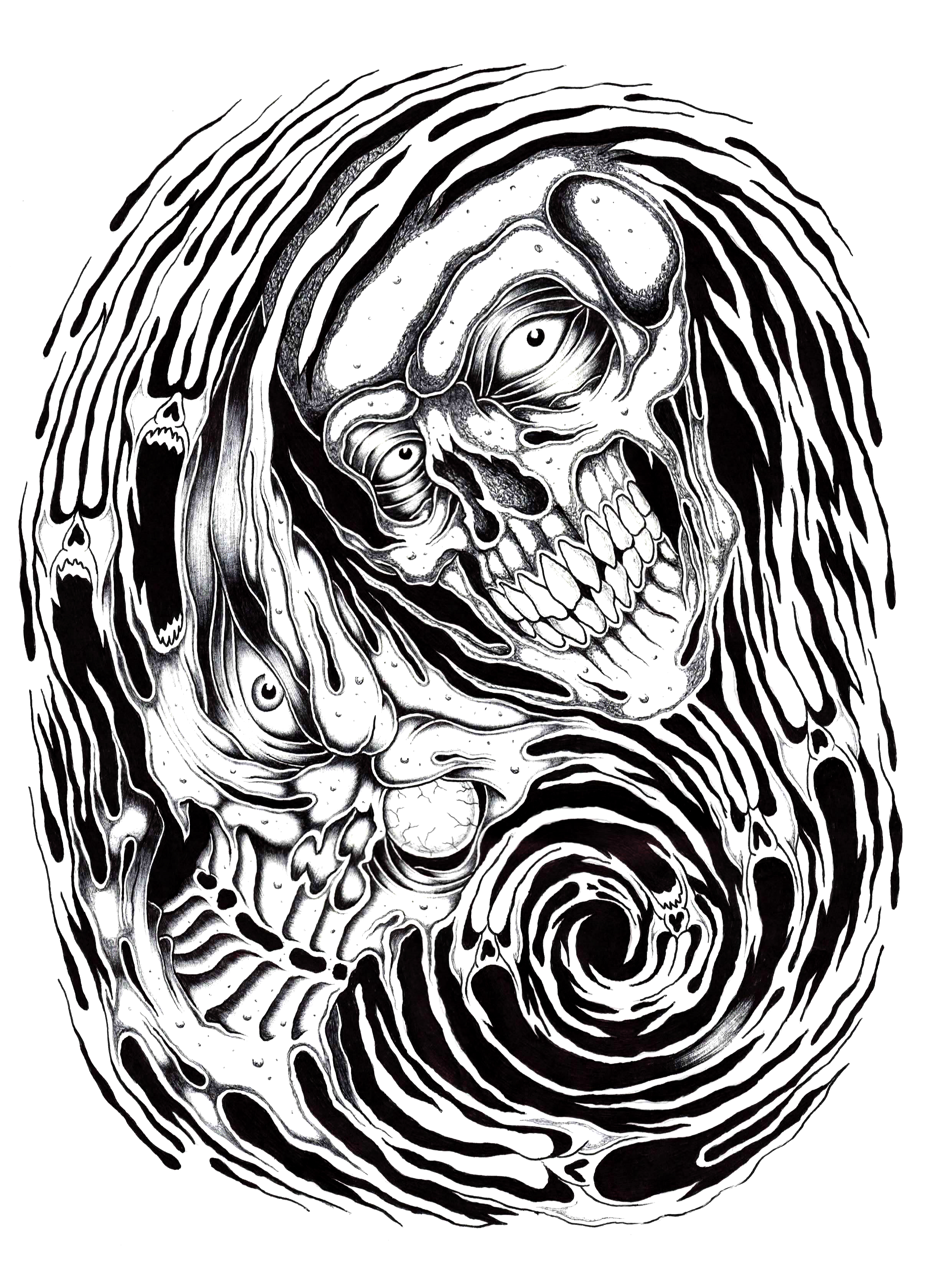 2416x3356 Cyclone Skulls By Stark Sketches