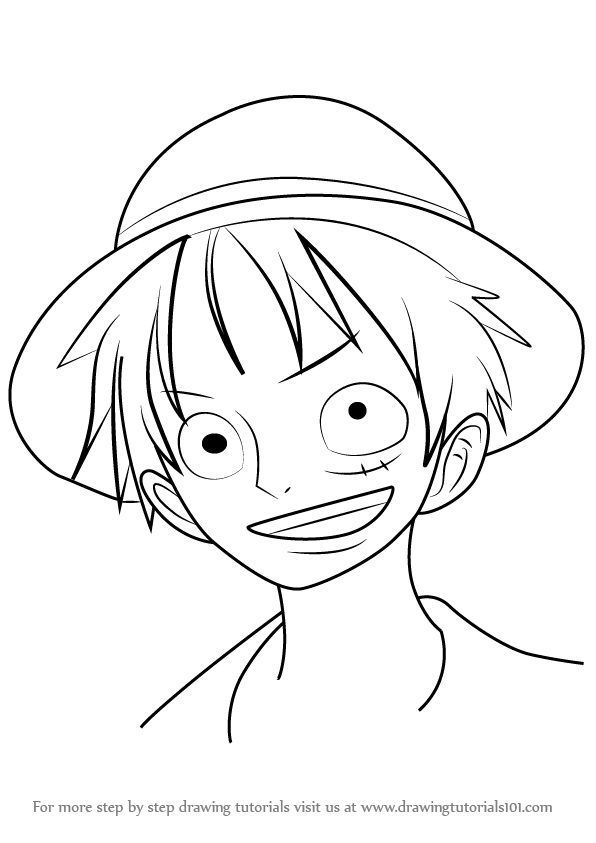 596x843 Learn How To Draw Monkey D. Luffy From One Piece (One Piece) Step
