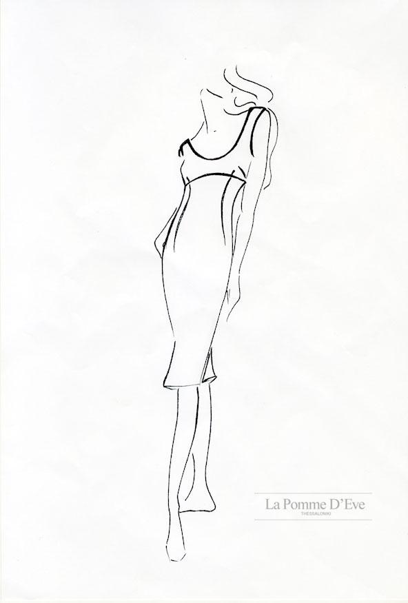 592x875 Fashion Design Line Drawing
